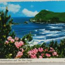 POSTCARD Oregon Coastline, Rhododendrons, Pacific