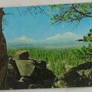 VINTAGE POSTCARD Three Sisters Mountains, Central Oregon, OR