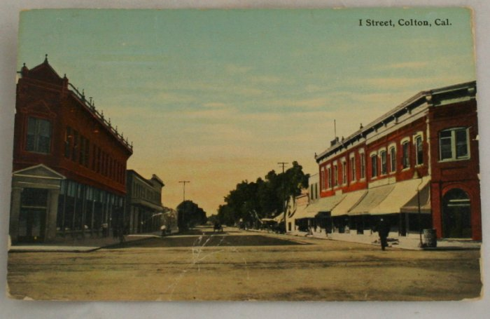 Hand Colored Postcard VINTAGE POSTCARD Colton CA
