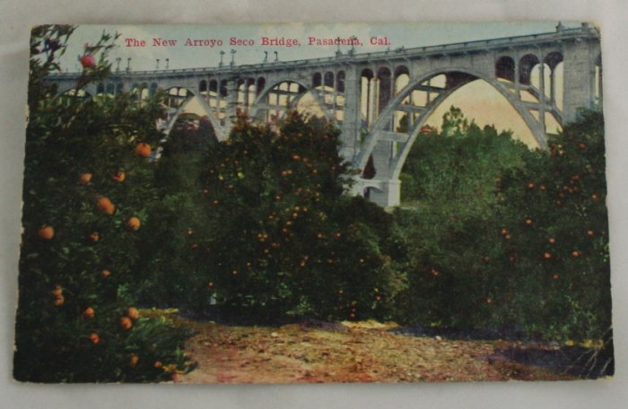 Hand Colored Postcard VINTAGE POSTCARD Pasadena CA