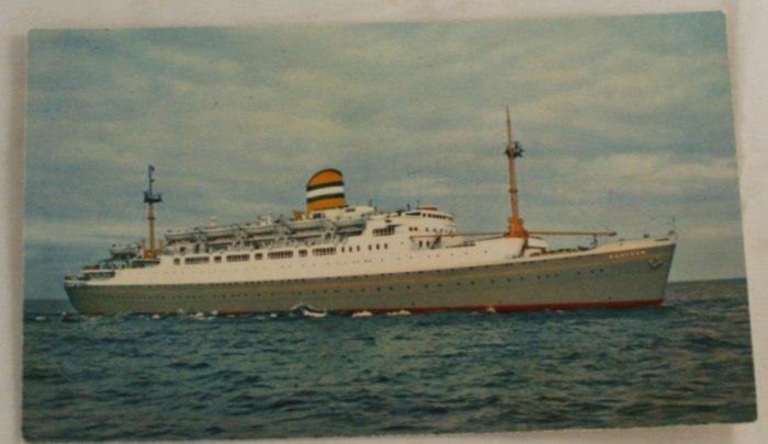 POSTCARD Cruise Ship-S.S.Maasdam-Holland America Lines