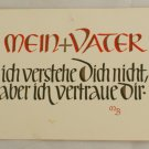 POSTCARD German-My Father-Calligraphy MB
