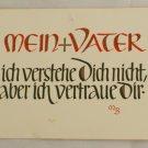 POSTCARD German-My Father-Calligraphy MB
