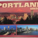 POSTCARD USA Portland Oregon Skyline Panorama
