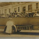 RPPC-Bournemouth England, 1919,Touring Bus, Driver