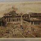 Sepia VINTAGE POSTCARD Italy-Rome-Roma-Vatican Basilica