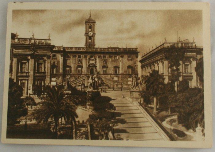 Sepia VINTAGE POSTCARD Italy-Rome-Roma-The Capitol