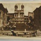 Sepia VINTAGE POSTCARD Italy-Rome-Roma-Spanish Steps