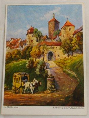 POSTCARD Germany,Bavaria,Rothenburg o.d.T.,L.Mossler