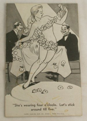 WW II Mutoscope Comic Arcade Card (Blank Back)