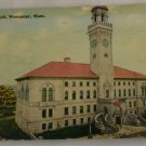 Hand Colored Postcard VINTAGE POSTCARD Worcester MA