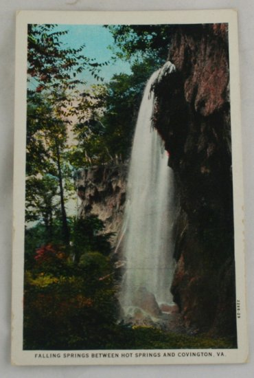 Hand Colored Postcard VINTAGE POSTCARD Hot Springs VA