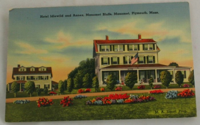 Hand Colored Postcard VINTAGE POSTCARD Plymouth MA