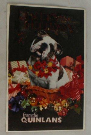 RPPC-Happy Holidays-Family Pet-Bulldog-1998
