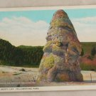 White Border-VINTAGE POSTCARD-Yellowstone-Liberty Cap