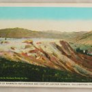 White Border-VINTAGE POSTCARD-Yellowstone-Mammoth Hot Springs