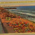 Linen Card-VINTAGE POSTCARD-California,Santa Monica