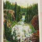 White Border-VINTAGE POSTCARD-Yellowstone-Kepler Cascades
