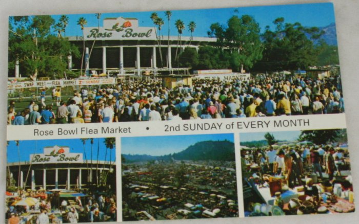 POSTCARD USA California,Pasadena,Rose Bowl Flea Market