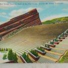 VINTAGE POSTCARD Colorado,Denver,Red Rocks Theatre - Linen