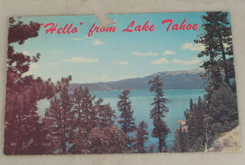 VINTAGE POSTCARD Nevada,Lake Tahoe, Hello From