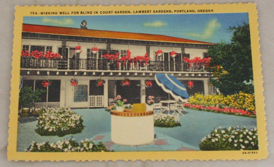 VINTAGE POSTCARD Oregon,Portland,Lambert Gardens 1949 Curteich