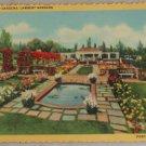 VINTAGE POSTCARD Oregon,Portland,Lambert Gardens 1940 Curteich