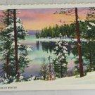 VINTAGE POSTCARD Oregon,Crescent Lake Curteich Linen