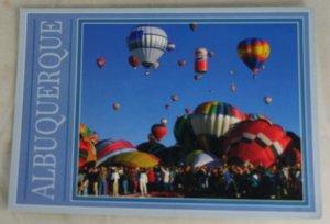VINTAGE POSTCARD New Mexico,Albuquerque,Hot Air Balloons
