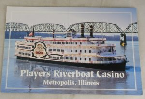 VINTAGE POSTCARD Illinois,Players Riverboat Casino