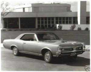 66 GTO Glossy Photo B&W 1966