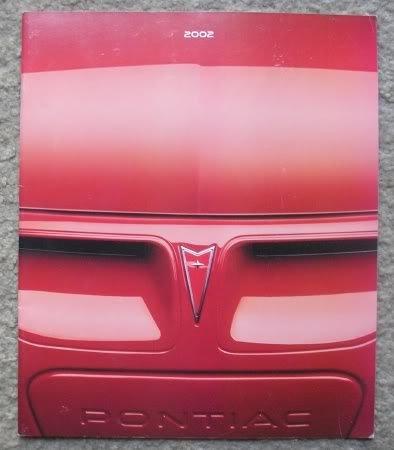 2002 Pontiac Full Line Dealer Sales Brochure