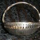 Landes Silver Plated Pierced & Fluted Basket, India