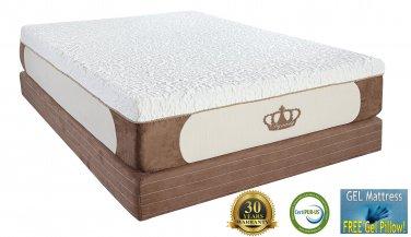 Dynasty Mattress 12-Inch FULL CoolBreeze GEL Memory Foam Mattress FREE 1 Gel Pillow