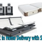 "Dynasty Mattress 12"" GEL Foam Mattress Reverie 8Q Adjustable Base-Split King with SETUP w/Pillows"