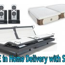 "Dynasty Mattress 14"" GEL Memory Foam Mattress w/Reverie 8Q Adjustable Base-SPLIT KING with SETUP"