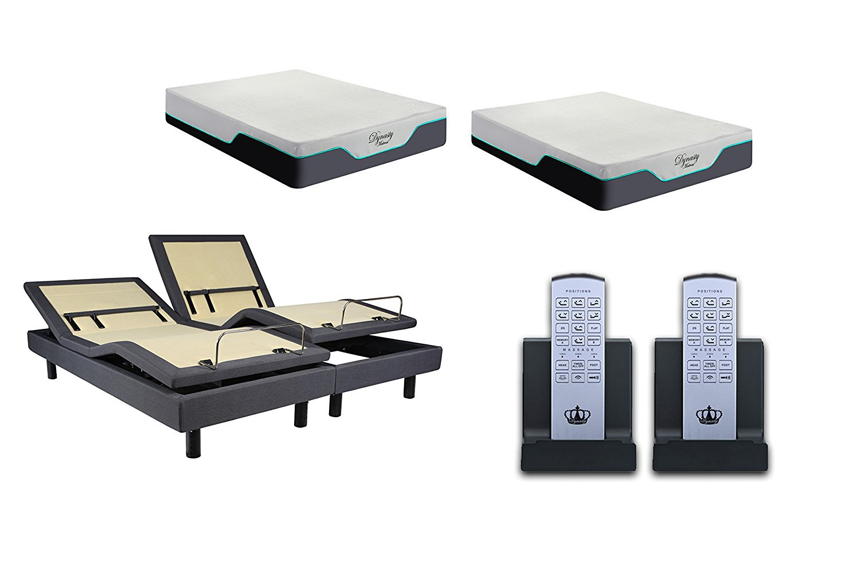 """DM9000S 12"""" CoolBreeze2-Soft- Adjustable Bed Cooling Dry Gel and Gel Infused-Soft-SPLIT-KING w/SETUP"""
