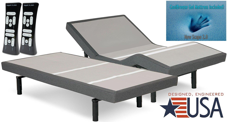 "14"" GEL Adjustable Beds Scape 2.0 Leggett & Platt-In Home Delivery-SPLIT CAL KING"