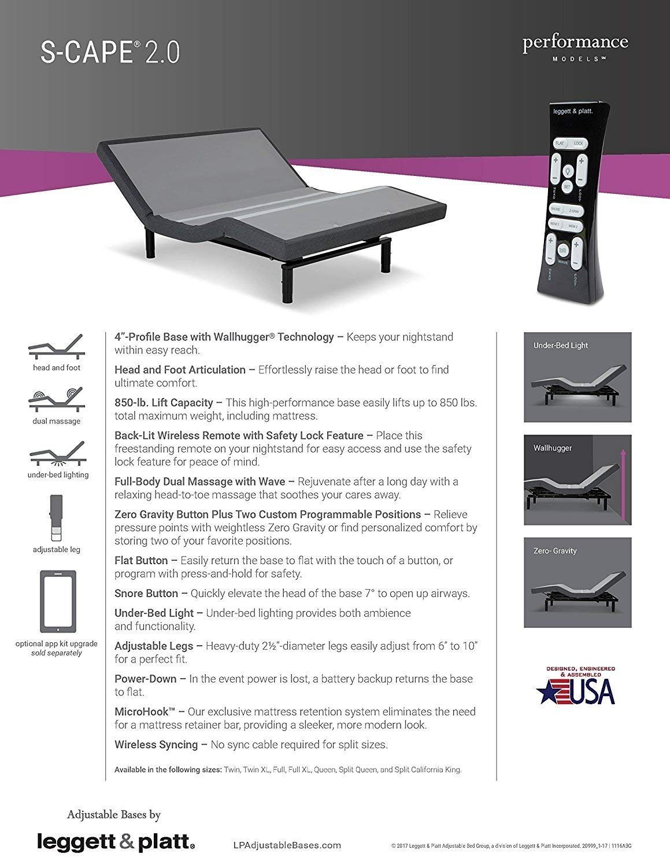 Dynasty Mattress 12 Quot Queen Gel Adjustable Bed Scape 2 0