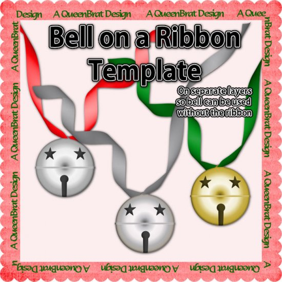 Bell on a Ribbon Template