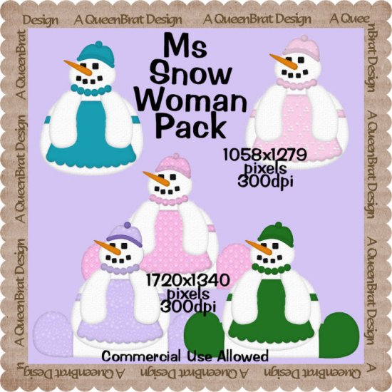 Ms Snow Woman Pack