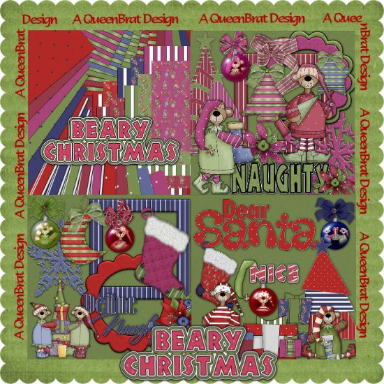 Beary Christmas Scrappers Kit