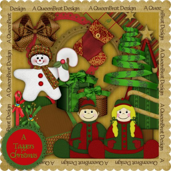 A Taggers Christmas Scrapper Kit