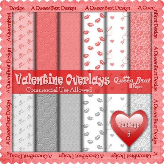 Valentine Overlays 6 - Scrapper Size