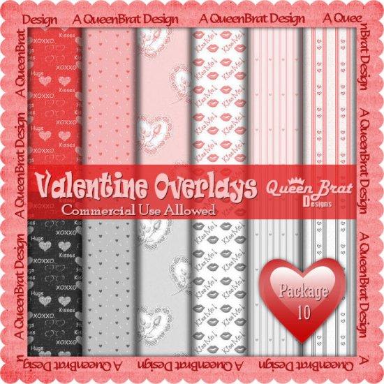 Valentine Overlays 10 - Scrapper Size