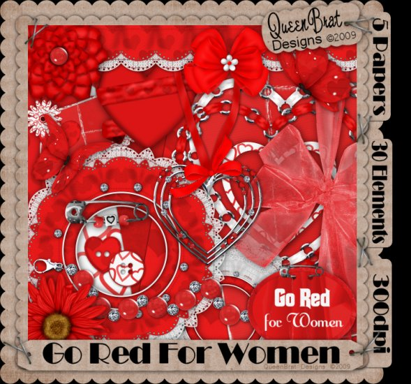 Go Red For Women Scrappers