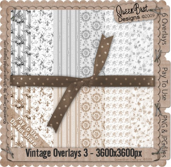 Vintage Overlays Pack 3-Scrapper