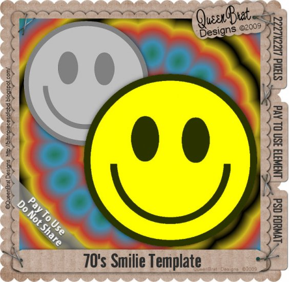70's Smilie Template