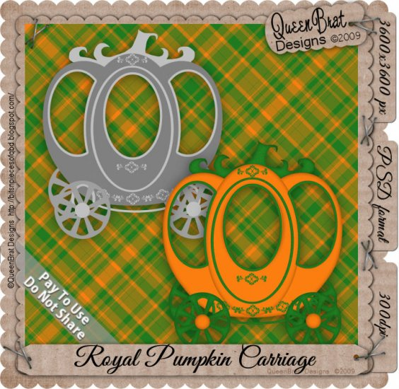 Royal Pumpkin Carriage Template