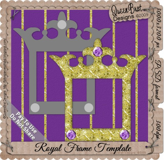 Royal Crown Frame Template